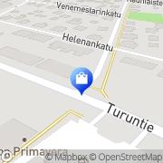 Kartta Pyörä- ja Urheiluvälinehuolto Salmiranta Salo, Suomi