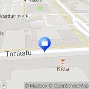 Kartta Kårkulla samkommun Hantverksbutiken Snigeln Karleby, Suomi