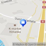Kartta Himangan Kenkä ja Käsityö Himanka, Suomi