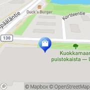 Kartta MRT-Kalusteet Tampere, Suomi