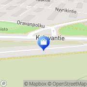Kartta Kukkakauppa Kalevantien Kukka Tampere, Suomi