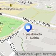 Kartta Pyörähuolto Raitia P Tmi Tampere, Suomi