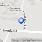 Kartta Länsi-Suomen Kaapeliasennus Oy Tampere, Suomi