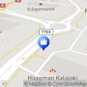 Kartta Kalajoen Halpa-Halli Kalajoki, Suomi