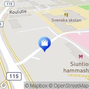 Kartta AR Saunat Ky Siuntio, Suomi