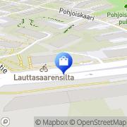 Kartta Lauttasaaren Silmälääkärikeskus Oy Helsinki, Suomi