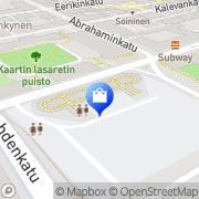 Kartta Hietalahden Antiikki ja Taidehalli Helsinki, Suomi