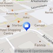 Kartta Quiksilver Helsinki Kamppi Helsinki, Suomi