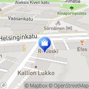 Kartta Suomen Footbag Helsinki, Suomi