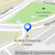 Kartta Kauppakeskus Arabia Helsinki, Suomi