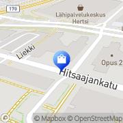 Kartta Voglia myymälä Helsinki, Suomi
