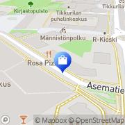 Kartta VPD Pelikauppa Vantaa, Suomi