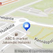 Kartta Jakomäen Kukka Helsinki, Suomi