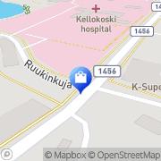 Kartta Kuukoru Kellokoski, Suomi
