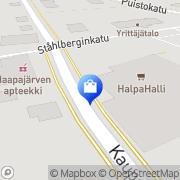 Kartta Haapajärven Halpa-Halli Haapajärvi, Suomi