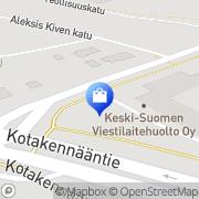 Kartta Keski-Suomen Viestilaitehuolto Oy Äänekoski, Suomi