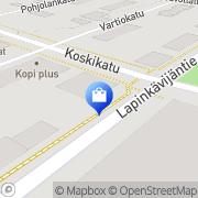 Kartta Rovaniemen seurakunta Lähetys kirpputori Toivon Tori Rovaniemi, Suomi