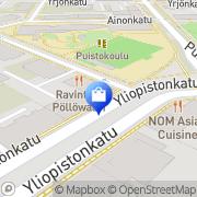 Kartta Kinnarps Oy Jyväskylä, Suomi