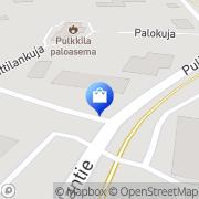 Kartta Kenkä- ja vaateliike V.I.P Pulkkila, Suomi