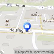Kartta Kukkakauppa Pikkulilli Hamina, Suomi
