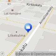 Mapa Koillis-Optiikka Oy Kemijärvi, Finlandia