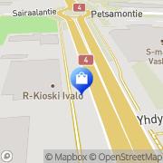 Kartta Tiinan Tori Ivalo, Suomi
