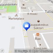 Kartta Aleksi 13 Kauppakeskus Sektori Kuopio, Suomi