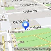 Kartta Optikkoliike Eyen Lappeenranta, Suomi