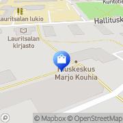 Kartta Lauritsalan apteekki Lappeenranta, Suomi