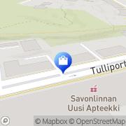 Kartta Suutari- ja avainpalvelu Parviainen T:mi Savonlinna, Suomi