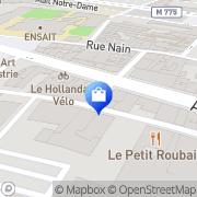 Carte de Duriez de Ghouy Caroline Roubaix, France