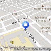 Carte de Doradoux Laurent Béziers, France