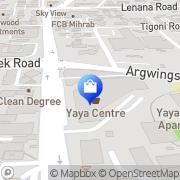 Map Yaya Shopping Centre Nairobi, Kenya