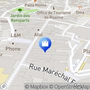 Carte de Pharmacie du Lycee Roanne, France