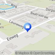 Kaart Beverkrul Oudenhoorn, Nederland