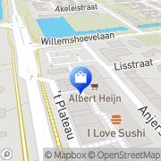 Kaart Albert Heijn Spijkenisse, Nederland