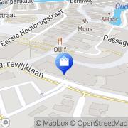 Kaart Olivier Mannenmode Spijkenisse, Nederland
