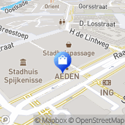 Kaart Witteveen Mode BV Spijkenisse, Nederland