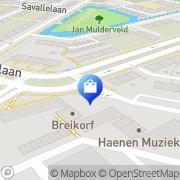 Kaart Susan Mode BV Voorburg, Nederland