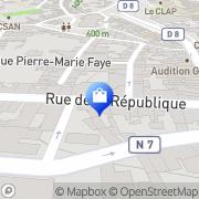 Carte de TVmatic Tarare, France