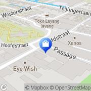 Kaart Melman Mode & Lingerie Sassenheim, Nederland