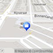Kaart Vijfvinkel Schoenen Barendrecht, Nederland
