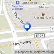 Kaart Erasmusbrug BV Rotterdam, Nederland
