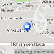 Kaart Hunkemöller Etten-Leur, Nederland