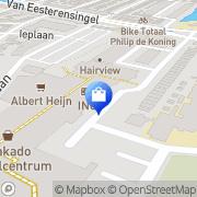 Kaart Albert Heijn Supermarkt Alblasserdam, Nederland
