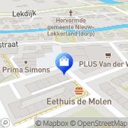 Kaart Anneke Schoenmode Nieuw-Lekkerland, Nederland