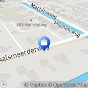 Kaart Hoogvliet Aalsmeer, Nederland