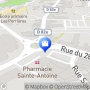 Carte de Pharmacie St Antoine Mâcon, France