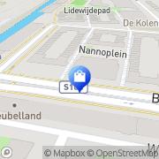 Kaart Buitenkant Tabaksspeciaalzaak De Amsterdam, Nederland
