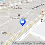 Kaart Primark Amsterdam, Nederland